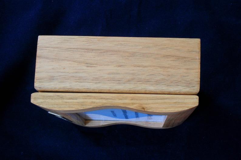 Spaceman Oak Jewellery Box Photo Insert 6x4 Personalised Engraving Ladies Gift 417