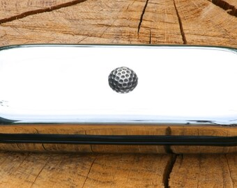 Golf Ball Spectacle Glasses Metal Case Personalised Gift