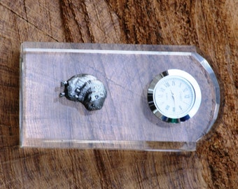Water Vole Design Glass Clock Bedside or Desk Top Gift Boxed