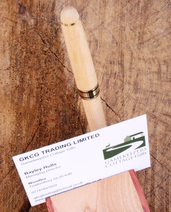 Wild Boar Head Wooden Pen and Business Card Holder Hunting Gift 034