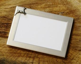 White Tailed Deer Emblem Picture Frame Landscape Or Portrait Hunting Gift