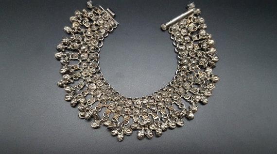 oriental silver anklet