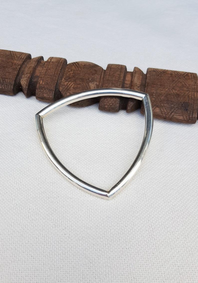 hallmarked designer vintage silver bracelet
