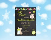 Baby Cow Baby Shower Invitation