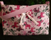 Pink Zebras 4-Pocket D-Ring Purse Diaper Bag
