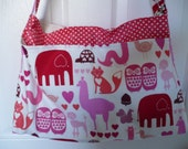 Pink Zoo Animal Purse Diaper Bag