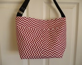Red Chevron Bucket-Style ...