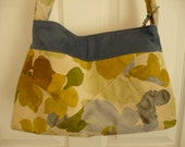 Yellow Floral/Blue Purse ...