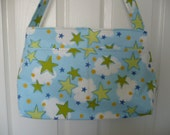 Stars in the Clouds Purse Diaper Bag