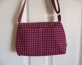 Plaid Adjustable Strap Mi...