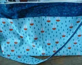 Blue Sailboats Purse Diaper Bag