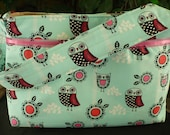 Adorable Owl & Pink Lace Purse Diaper Bag