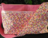 Multi-color Floral & Pink Lace Purse Diaper Bag