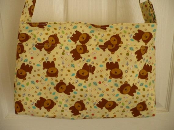 Teddy Bear Adjustable Purse Diaper Bag