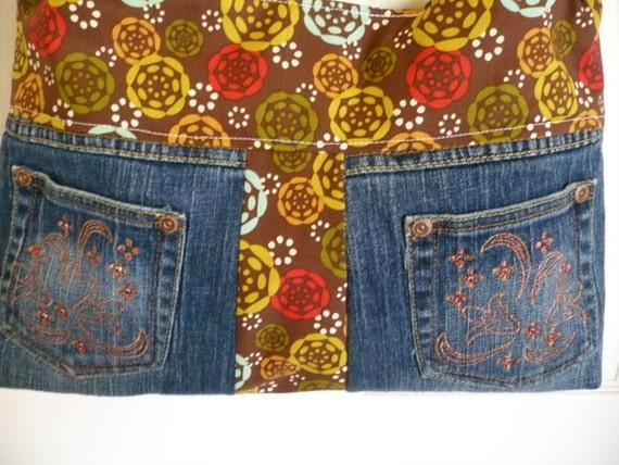 Multi-fabric Owl Upcycle Purse Diaper Bag