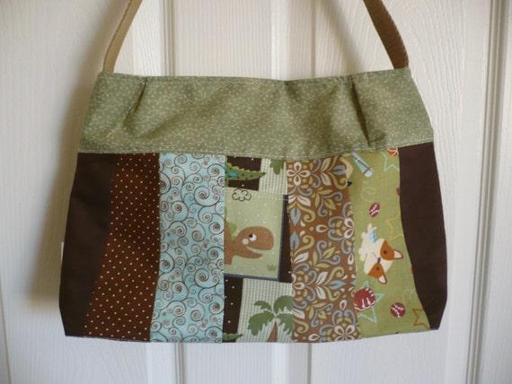 Multi-Browns & Greens Purse Diaper Bag