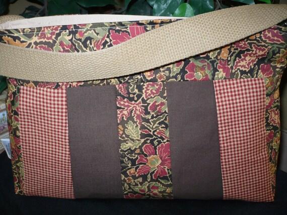 Multi-Color Paisley Sleek Purse Diaper Bag