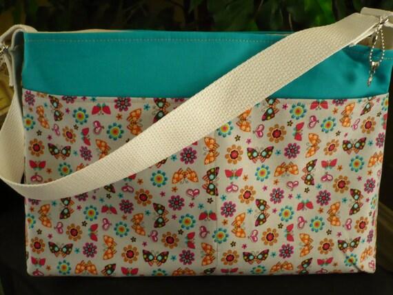 Butterflies-n-Flowers D-Ring Diaper Bag & Purse Charm