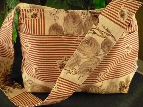 Roses & Stripes Mini Diaper Bag