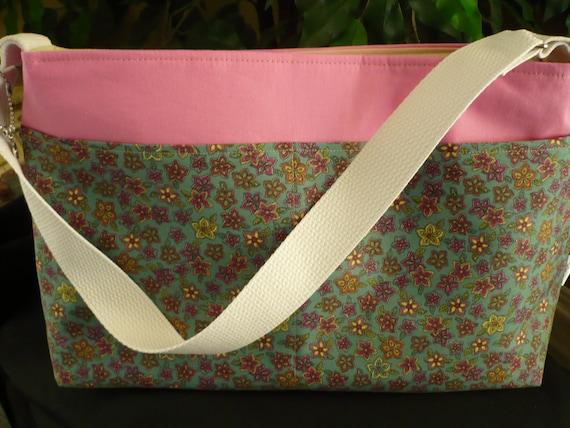Multi-Color Flowers D-Ring Diaper Bag & Purse Charm