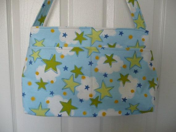 Stars in the Clouds Purse Diaper Bag
