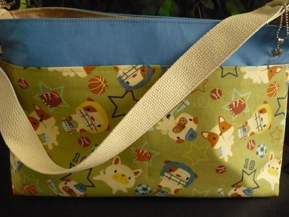 Sporty Puppies D-Ring Purse Diaper Bag
