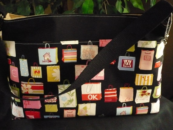 "Alexander Henry ""Shopping Bage"" D-Ring Diaper Bag"