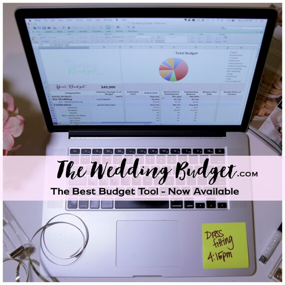 items similar to the wedding budget complete online offline budget tool for weddings on etsy