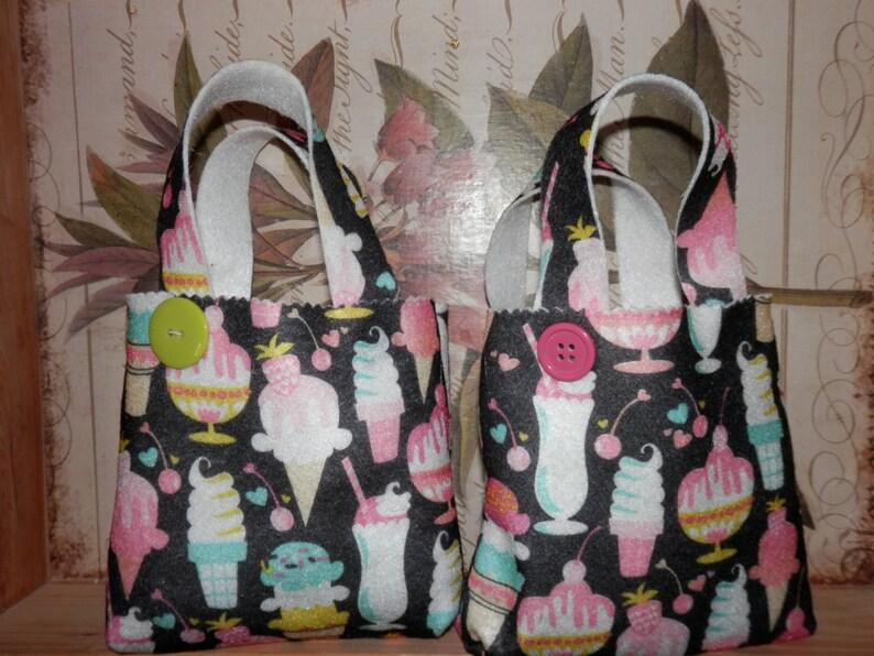 ICE CREAM FELT Bags Gift Wrapping Birthday Bag Small