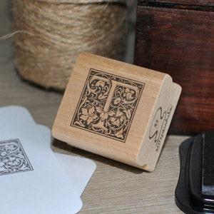 Alphabet letter V stamp Monogram V stamp Wood Mounted Rubber Stamp Letter V Rubber Stamp