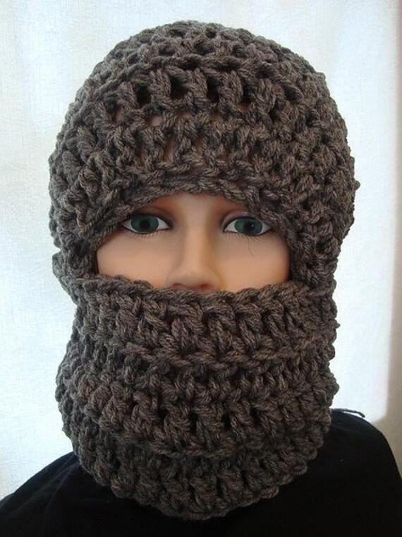 Hat Crochet Pattern Ski Mask Unisex Chunky Style Winter Hat Etsy