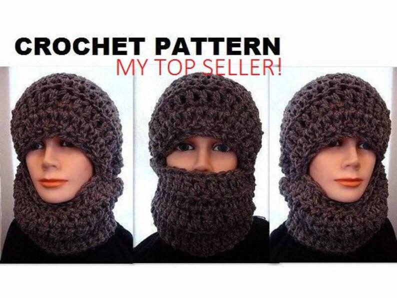5238f1fcb4f HAT Crochet Pattern Ski Mask Unisex chunky style winter hat