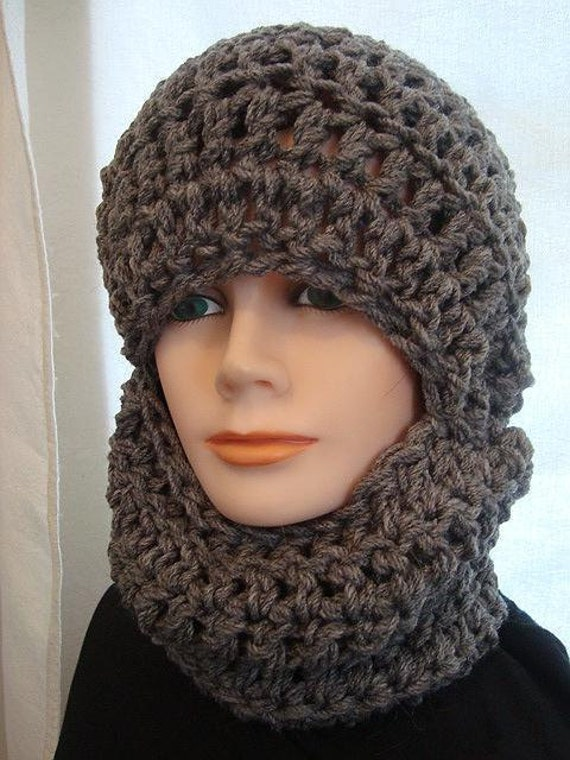 Hat Crochet Pattern Ski Mask Unisex Chunky Style Winter Hat Etsy