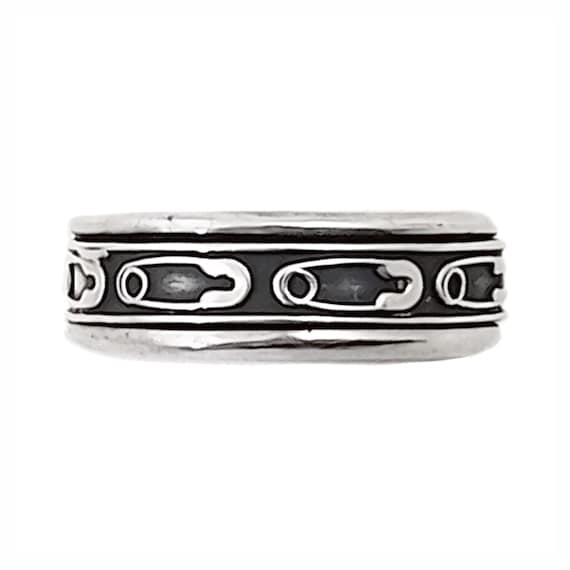 Vintage Mens Spinner Ring in Sterling Silver - Pun