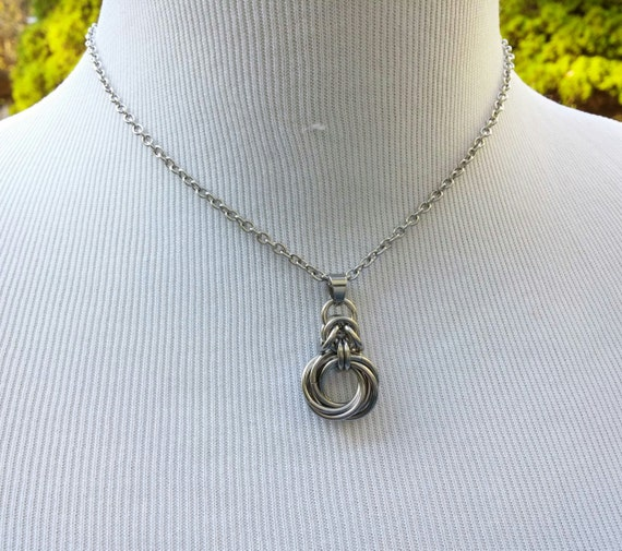 24/7 Wear Discreet Symbolic O Ring Day Collar Necklace, BDSM Submissive Slave Collar, DDLG, Stainless Steel Petite Cable Chain Necklace