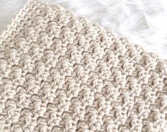 Neutral Crochet Baby Blanket - Baby Shower Gift - Baby Boy - Baby Girl - Nursery - Newborn Keepsake Afghan