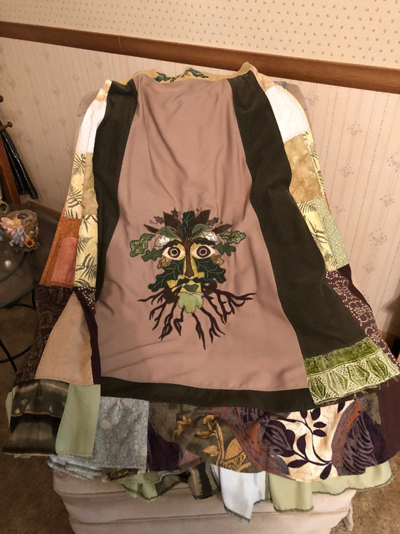 Green man smock dress