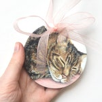 Custom Ceramic Pet Portrait Hand Painted Acrylic Personalised Hanging Ornament Pet Lover gift Memorial Pet Loss Idea Animal Lover Home Decor