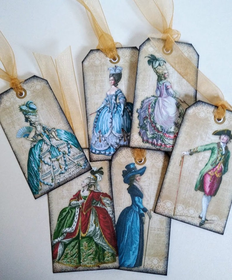 Baroque style Rococo style Regal tags DECADENCE Tags Marie Antoinette style Vintage tags