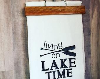 Flour Sack Kitchen Towel - Country/Lake