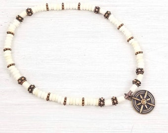 Compass Ankle Bracelet for Women, Compass Anklets for Women, Gift for Her, Beach Anklet, Summer Anklet, Ocean Anklet, Boho Style Jewelry