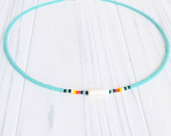 Native Choker, Native Jewelry, Native Necklace, Choker Necklace, Beaded Choker, Choker for Girls, Turquoise Choker, Turquoise Jewelry