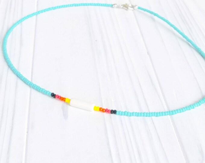 Native Choker, Native Jewelry, Native Necklace, Choker Necklace, Beaded Choker, Choker for Girls, Turquoise Choker, Turquoise Jewelry
