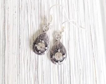 Rhinestone Earrings, Drop Earrings for women, Sparkly earrings, Rhinestones Dangle Earrings, Boho Style earrings, statement earrings