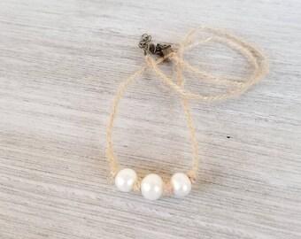 Minimalist pearl choker necklace for women, boho choker, dainty choker, Freshwater Pearl Necklace for Women