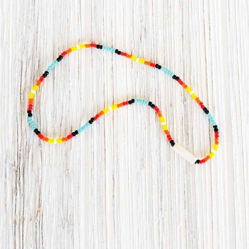 Anklets for Women Beach anklet Beaded Anklet in a Native American Indian Style Summer Jewelry Stretch Womens Ankle Bracelet