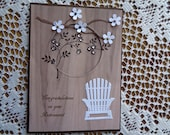 Retirement Card, Good Luck, Congratulations, Wicker Chair, Thinking of You, Retirement Message, 3 Dimensional, Greeting Card, Handmade