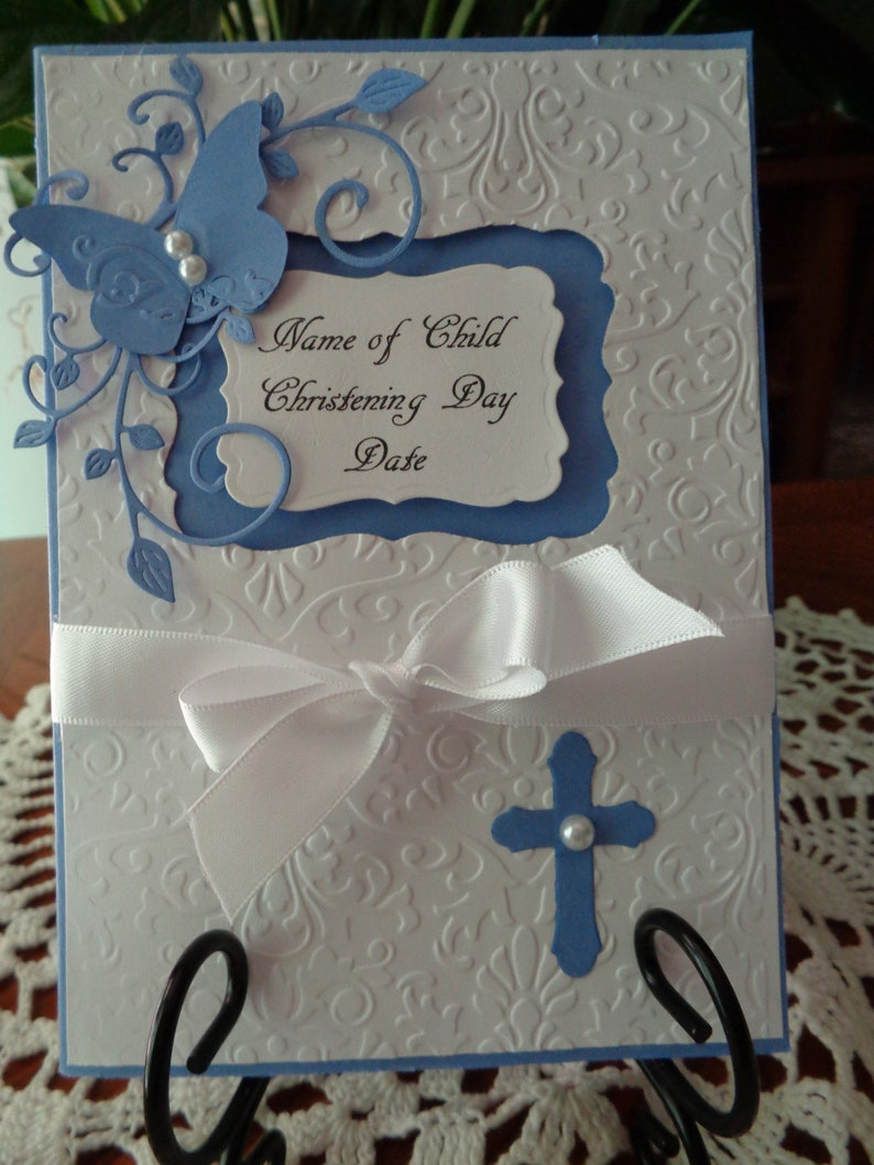 Christening Day Card for a Special Boy with Cream Envelope