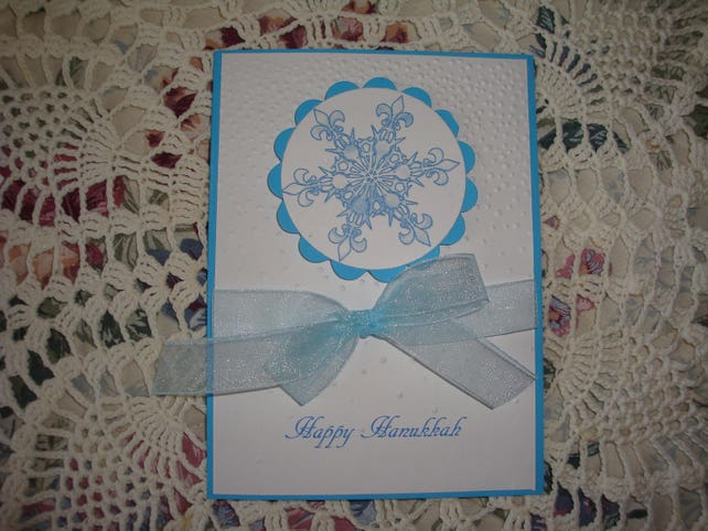 Hanukkah Card, Happy Hanukkah, Jewish Holiday, Star of David, 3 Dimensional, Greeting Card, Handmade