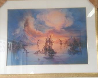 Politics Painting Double Signed and Numbered by artist John Pitre